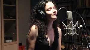 """Sheila Blanco durante la grabación de """"Para volverte a ver"""""""